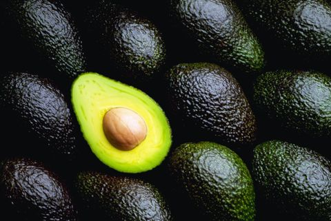 Cut and Uncut Avocados