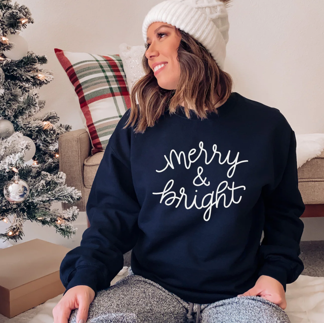 cute christmas sweaters merry and bright sweater
