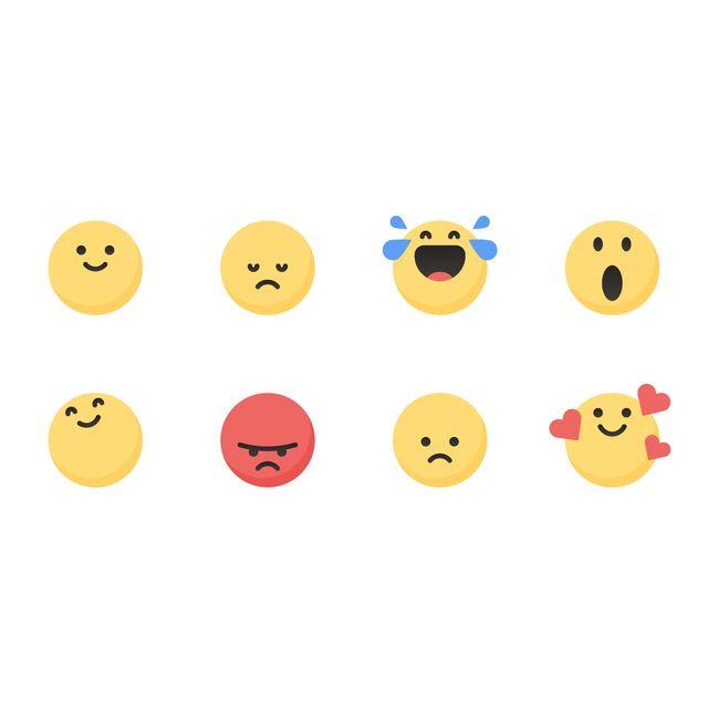 Cute essential emoticons set