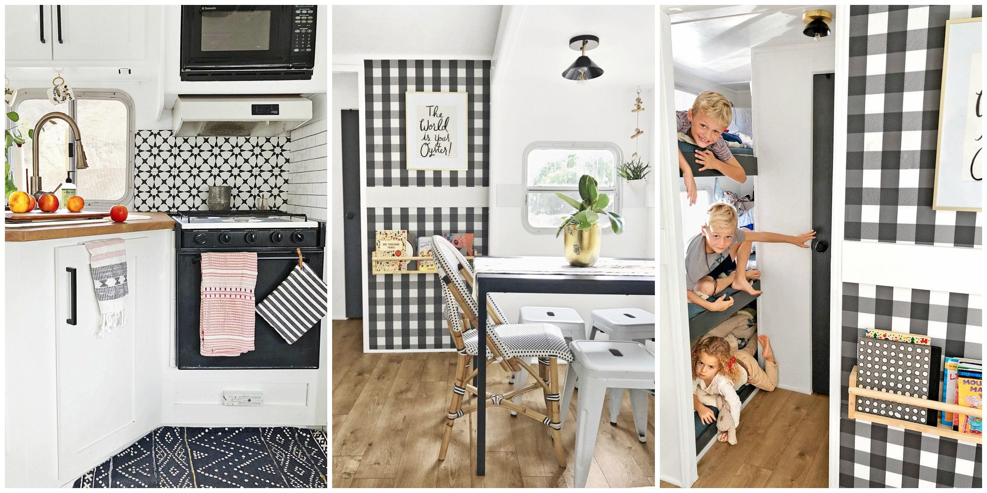 Camper Decorating Ideas Renovated Family Rv