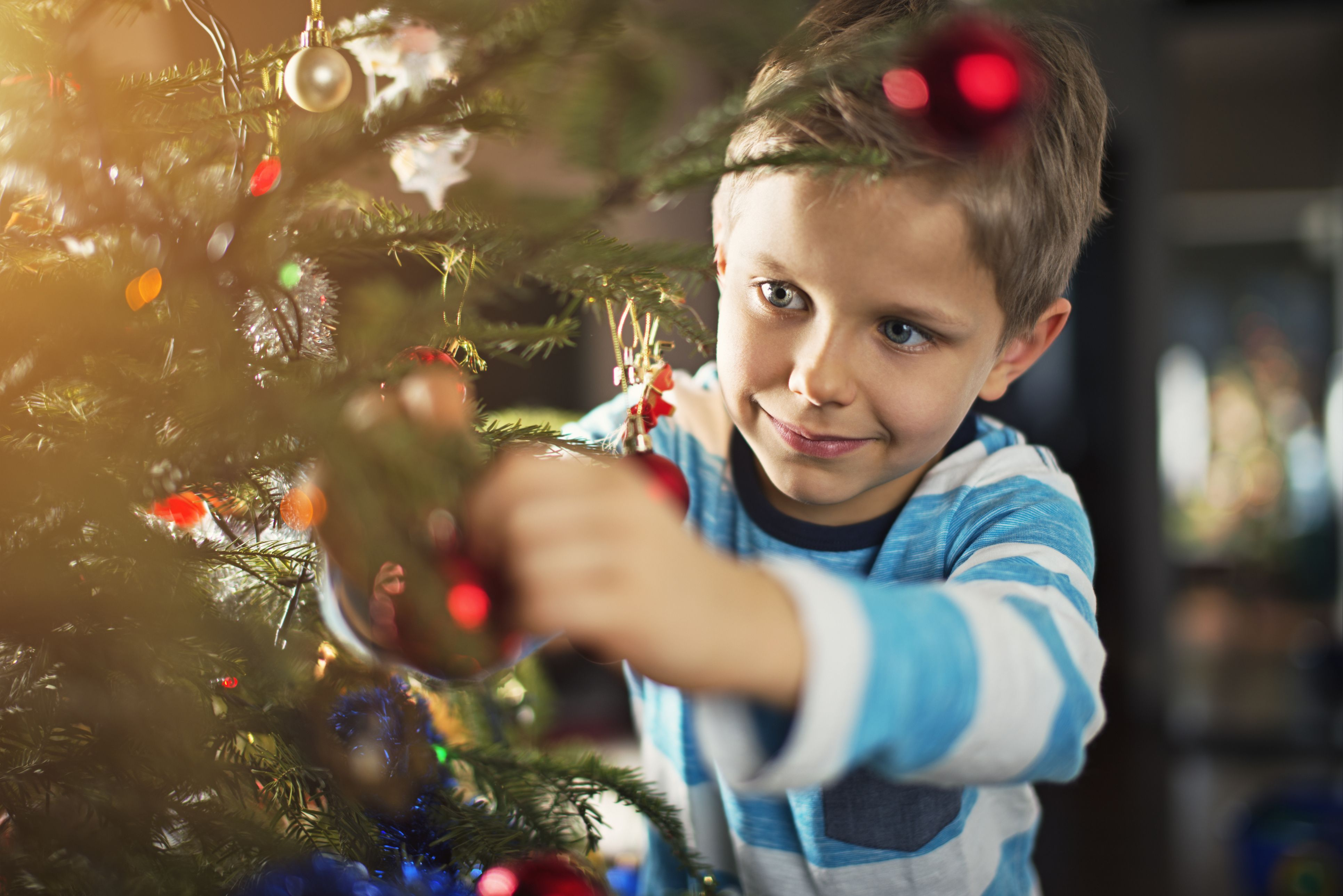 Fridays child is loving and giving gifts on christmas
