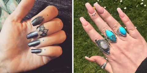 Blue, Finger, Skin, Nail, Nail care, Style, Nail polish, Fashion accessory, Fashion, Manicure,