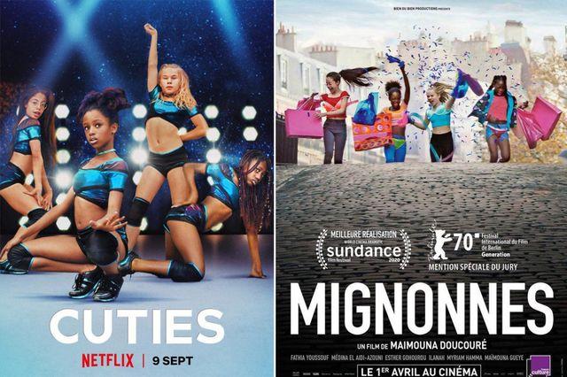 los dos carteles de la película cuties que han provocado la polémica en netflix