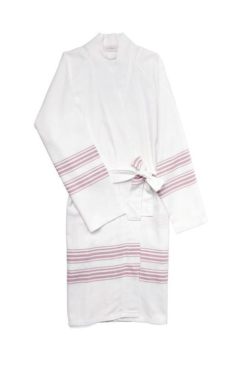 Clothing, White, Pink, Sleeve, Robe, T-shirt, Outerwear, Nightwear,