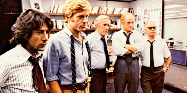 dustin hoffman and robert redford in the film all the president's men