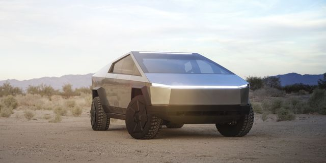 The Tesla Cybertruck Pickup Truck Is Here and It's Wacky