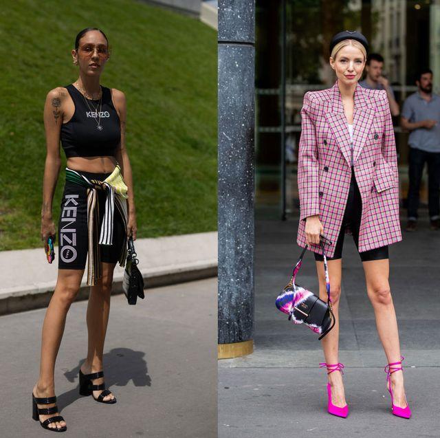 Fashion model, Clothing, Street fashion, Fashion, Footwear, Pink, Shoe, Shoulder, Blazer, Shorts,