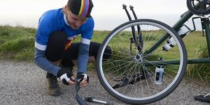 how to fix a flat tire