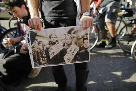 Cyclists Protest ICE