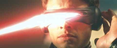Cyclops (James Marsden Lets Out An Optic Blast From His Visors In The Film X-Men (Pho