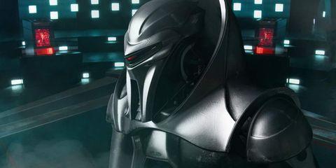 un robótico cylon de battlestar galactica