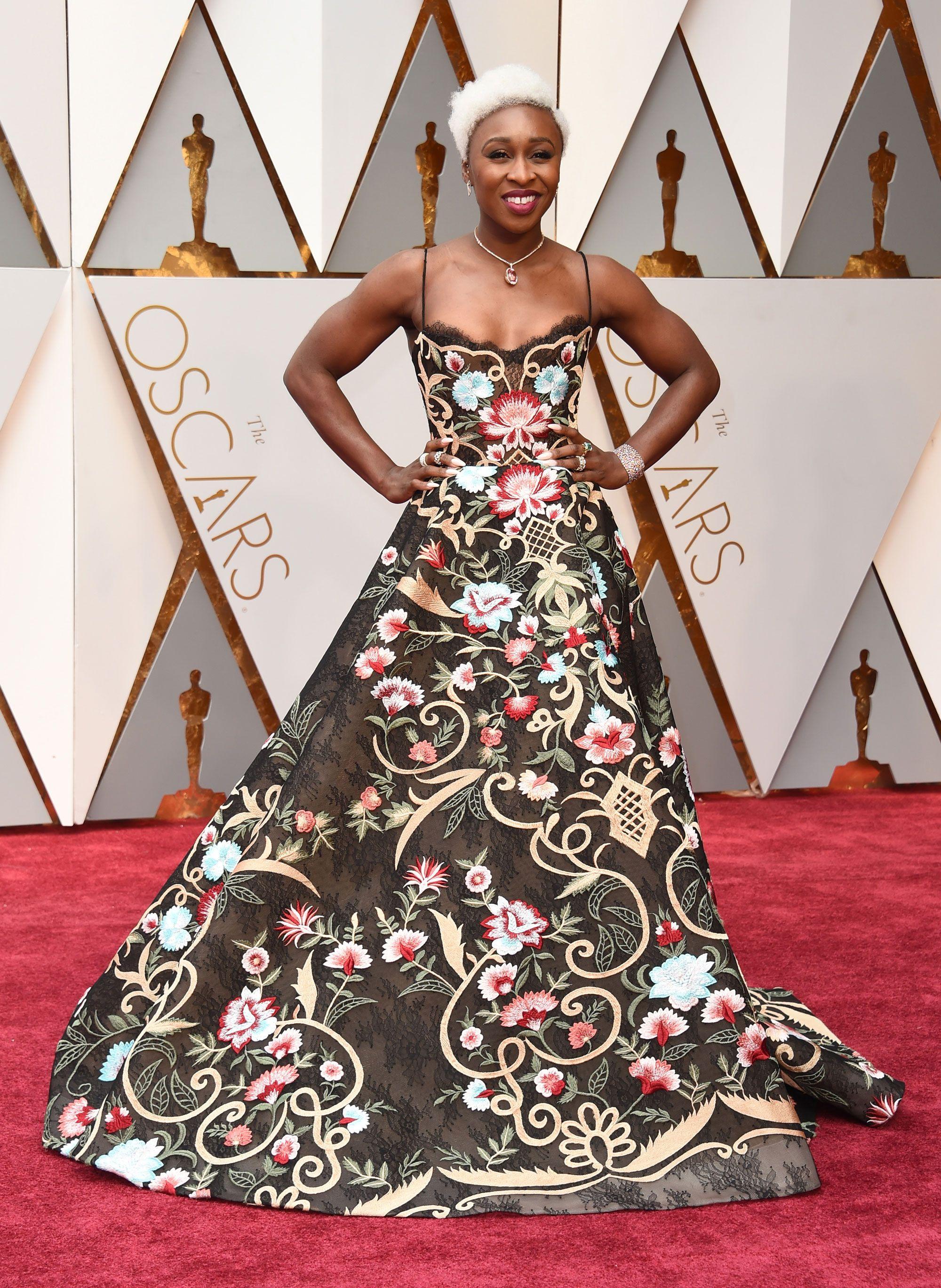 Cynthia Erivo Dress on Oscar