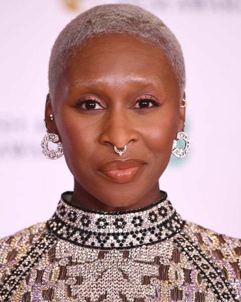london, england   april 11 awards presenter cynthia erivo attends the ee british academy film awards 2021 at the royal albert hall on april 11, 2021 in london, england photo by jeff spicergetty images