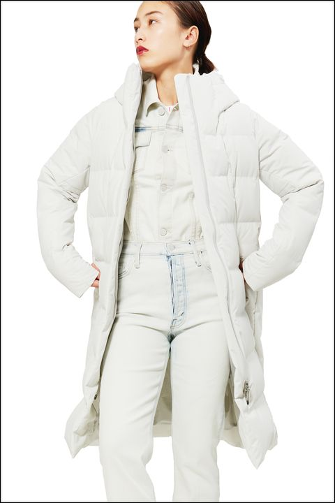 Clothing, White, Outerwear, Jacket, Sleeve, Coat, Fashion, Beige, Collar, Top,