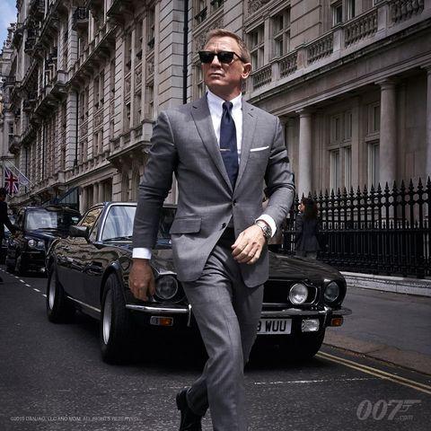 「007」最新作の撮影現場で見せた、ダニエル・クレイグのクラシックスタイル