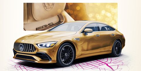 Mercedes-AMG GT 4-Door gold Oscars