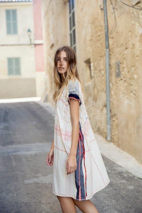 Clothing, White, Street fashion, Photograph, Fashion, Dress, Shoulder, Beauty, Pink, Footwear,