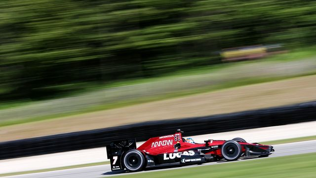 robert wickens practices before the 2017 indycar race at road america