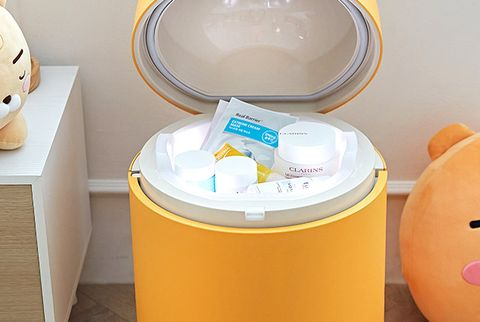 黃色的萊恩多功能小冰箱