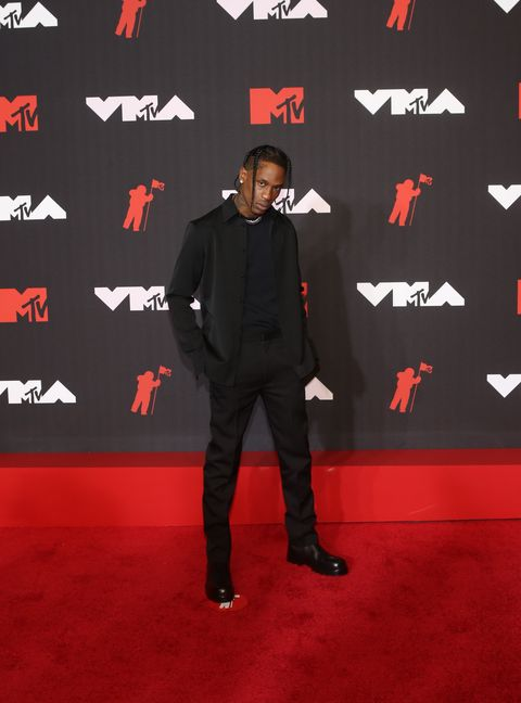 new york, new york   september 12 travis scott attends the 2021 mtv video music awards at barclays center on september 12, 2021 in new york city photo by udo salters patrick mcmullan via getty images