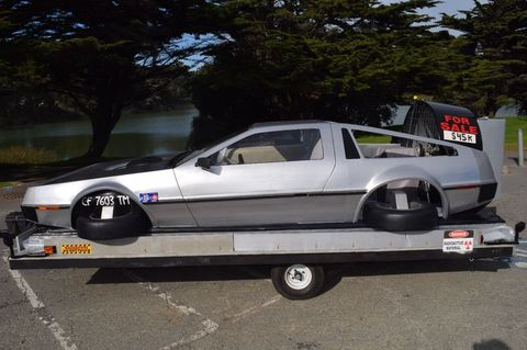 there 39 s a working back to the future delorean hovercraft for sale on ebay. Black Bedroom Furniture Sets. Home Design Ideas