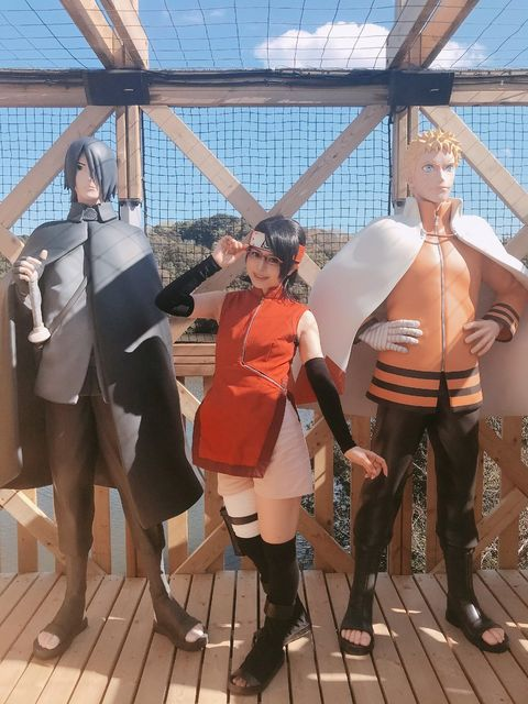Costume, Cosplay, Leg, Anime, Fun, Vacation, Personal protective equipment, Leisure, Fawn,