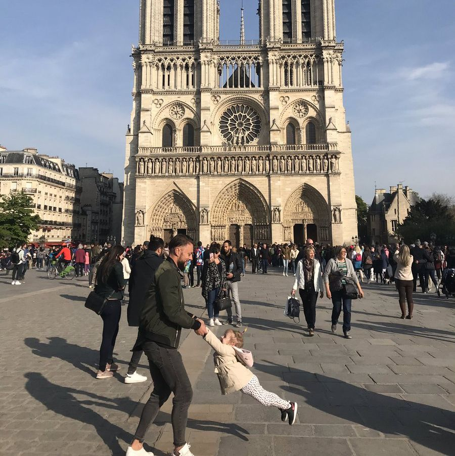 Twitter Is Searching for the Father-Daughter Duo Photographed Before Notre Dame Fire