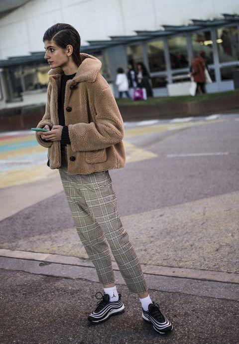 Clothing, Street fashion, Photograph, Fashion, Snapshot, Footwear, Outerwear, Fur, Shoe, Coat,