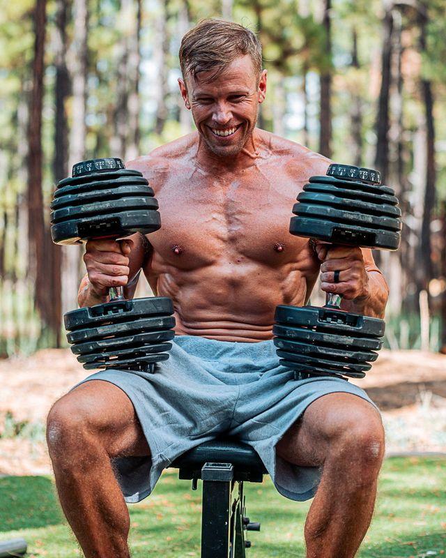 ryan hall lifting weights outside