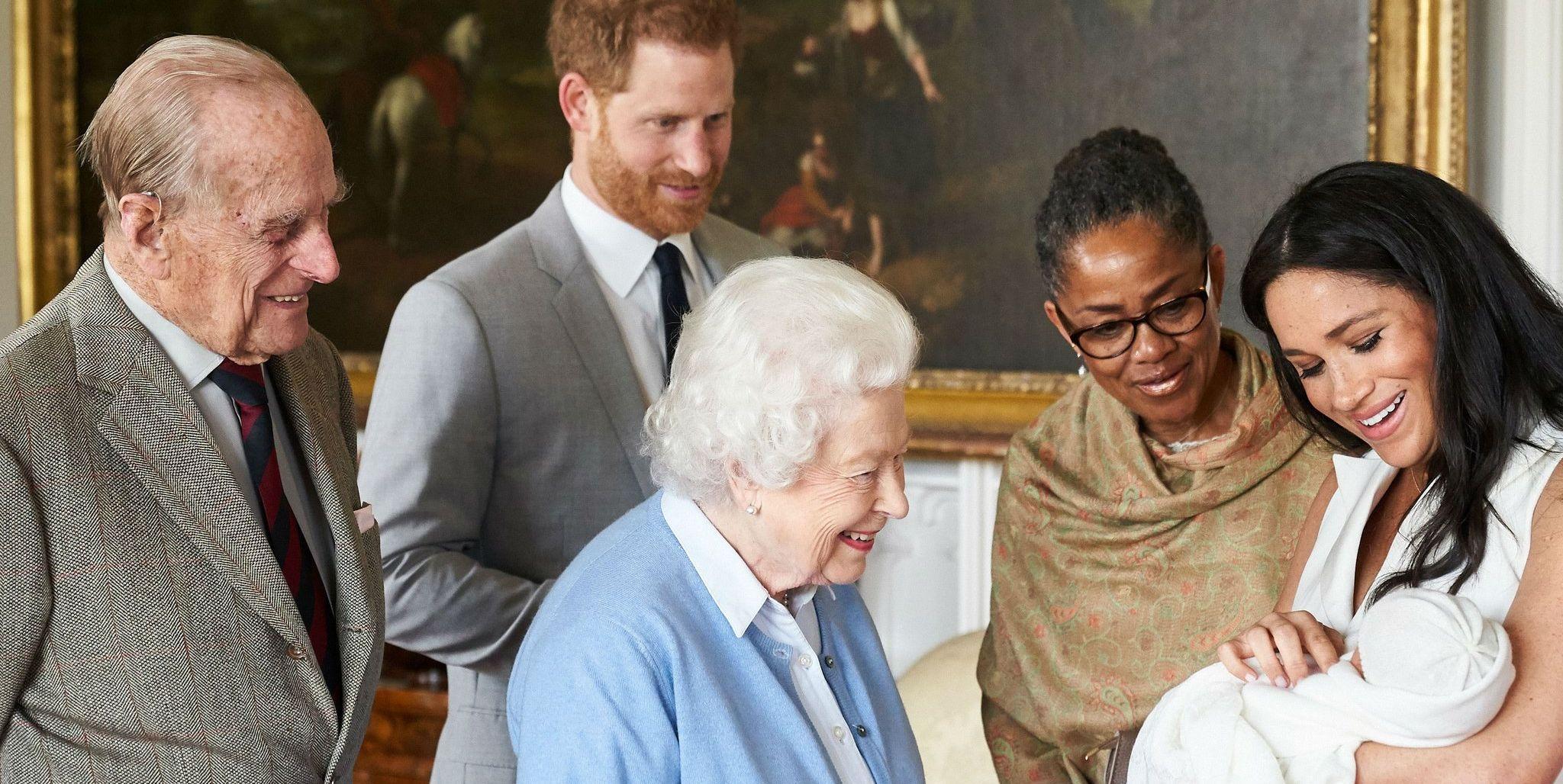 archie harrison mountbatten-windsor meets queen elizabeth prince philip