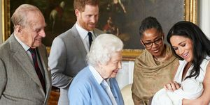 archie harrison mountbatten-windsor meets queen elizabeth prince philip