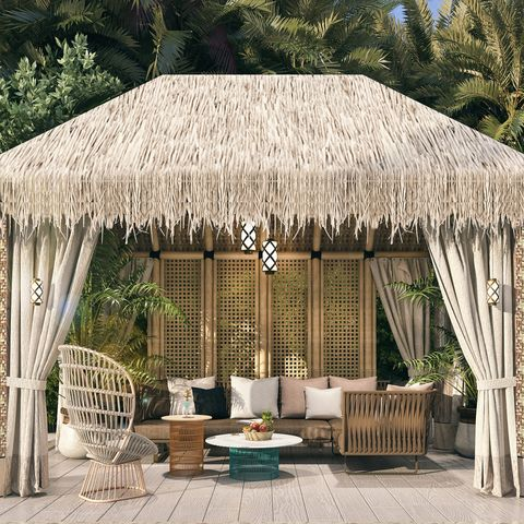 Gazebo, Canopy, Building, Pavilion, Roof, House, Thatching, Home, Shade, Outdoor structure,