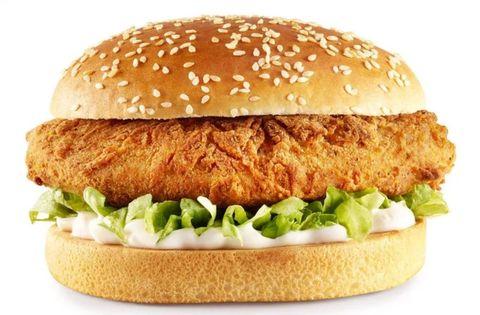 Food, Dish, Fast food, Junk food, Original chicken sandwich, Cuisine, Hamburger, Veggie burger, Ingredient, Burger king grilled chicken sandwiches,