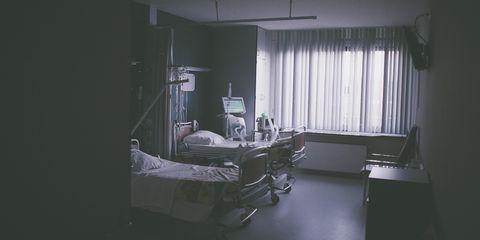 White, Black, Hospital, Room, Light, Interior design, Photography, Furniture, Black-and-white, Architecture,