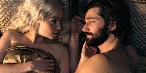 game of thrones sex scenes, sexiest moments game of thrones, daenerys, daario,