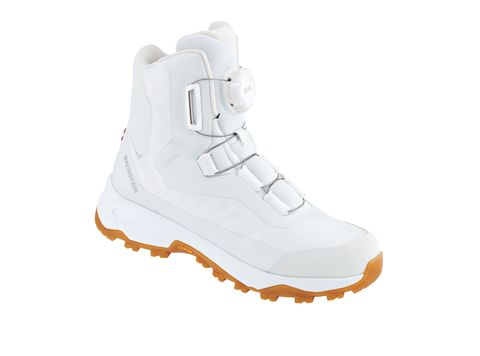 Footwear, White, Shoe, Product, Boot, Orange, Athletic shoe, Outdoor shoe, Hiking boot, Snow boot,