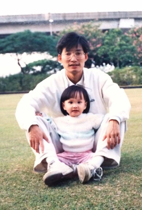 jodie chan with her father, joe