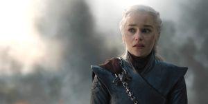 Emilia Clarke as Daenerys Targaryen, Game of Thrones, season 8, episode 5