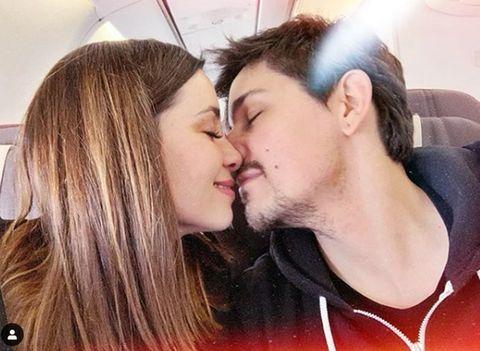 Hair, Kiss, Love, Interaction, Cheek, Lip, Romance, Forehead, Gesture, Mouth,
