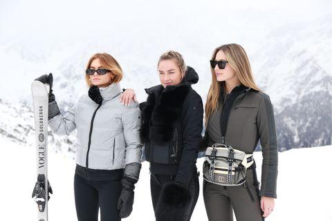 White, People, Eyewear, Product, Winter, Standing, Outerwear, Fashion, Fun, Footwear,