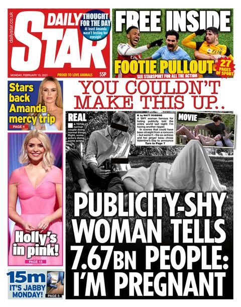 daily star meghan markle pregnancy headline