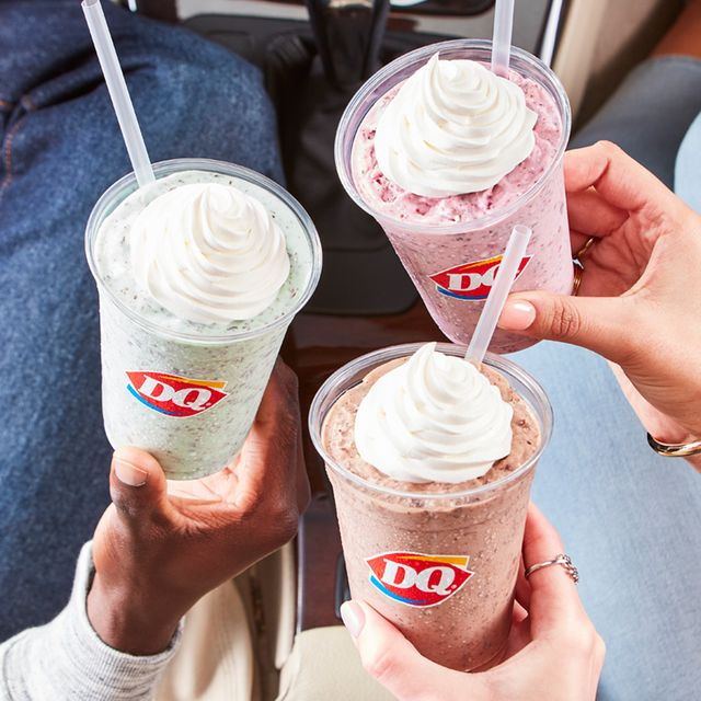 dairy queen spring 2021 chip shake trio