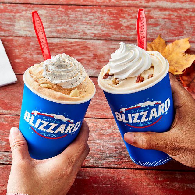 dairy queen pumpkin pie blizzard and pecan pie blizzard 2021 fall menu