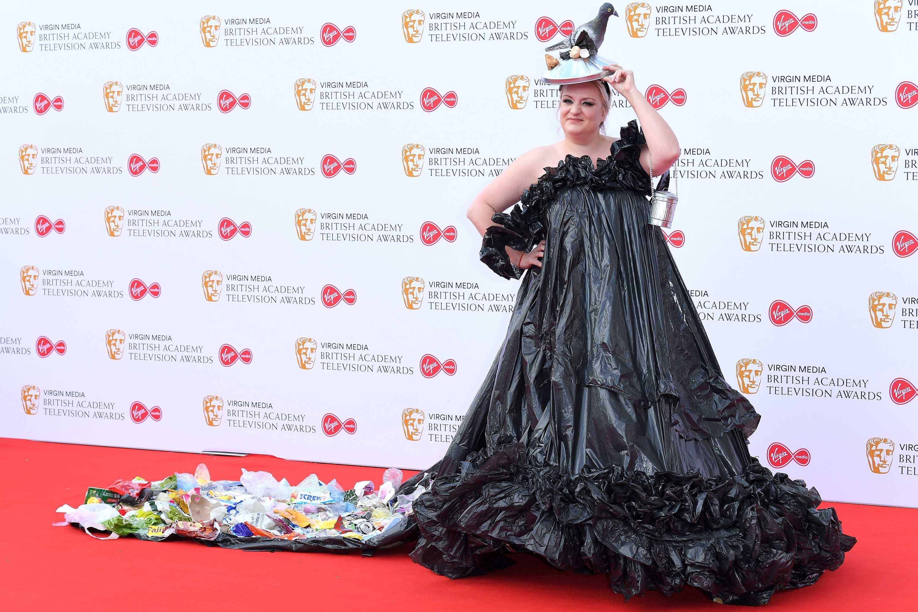 This Country star Daisy May Cooper wore a bin bag dress on