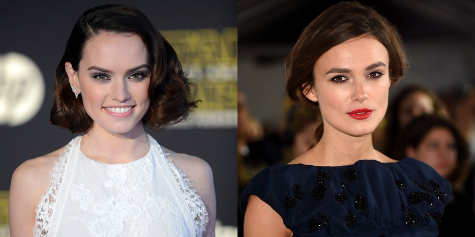 Daisy Ridley and Keira Knightley The Force is strong in this pair. Both Ridley and Knightley have appeared in Star Wars films and Ridley says she's regularly ID'd as a Knightley dopplegänger.