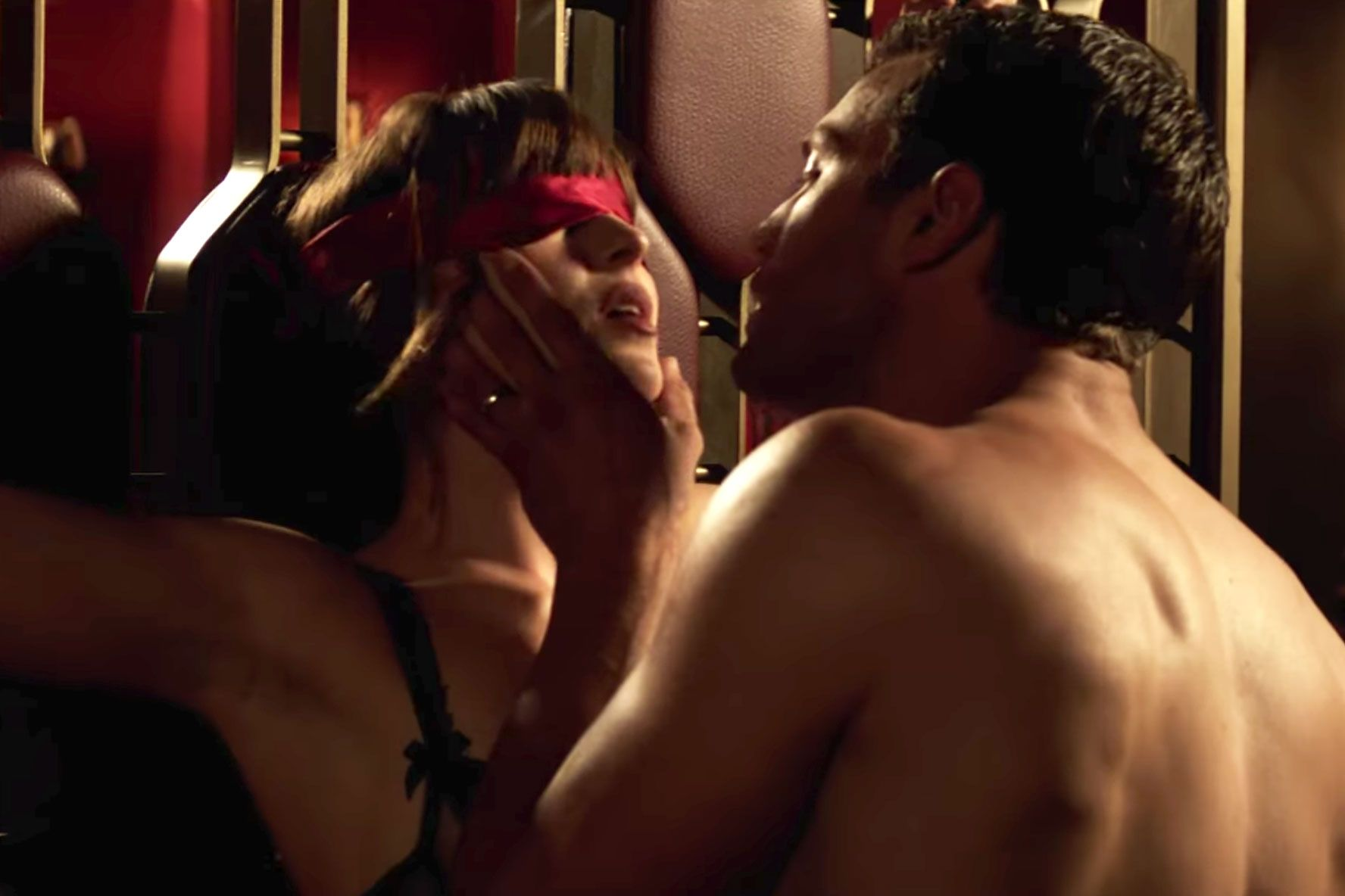 Watch Dakota johnson topless whipping scene from fifty shades of grey video