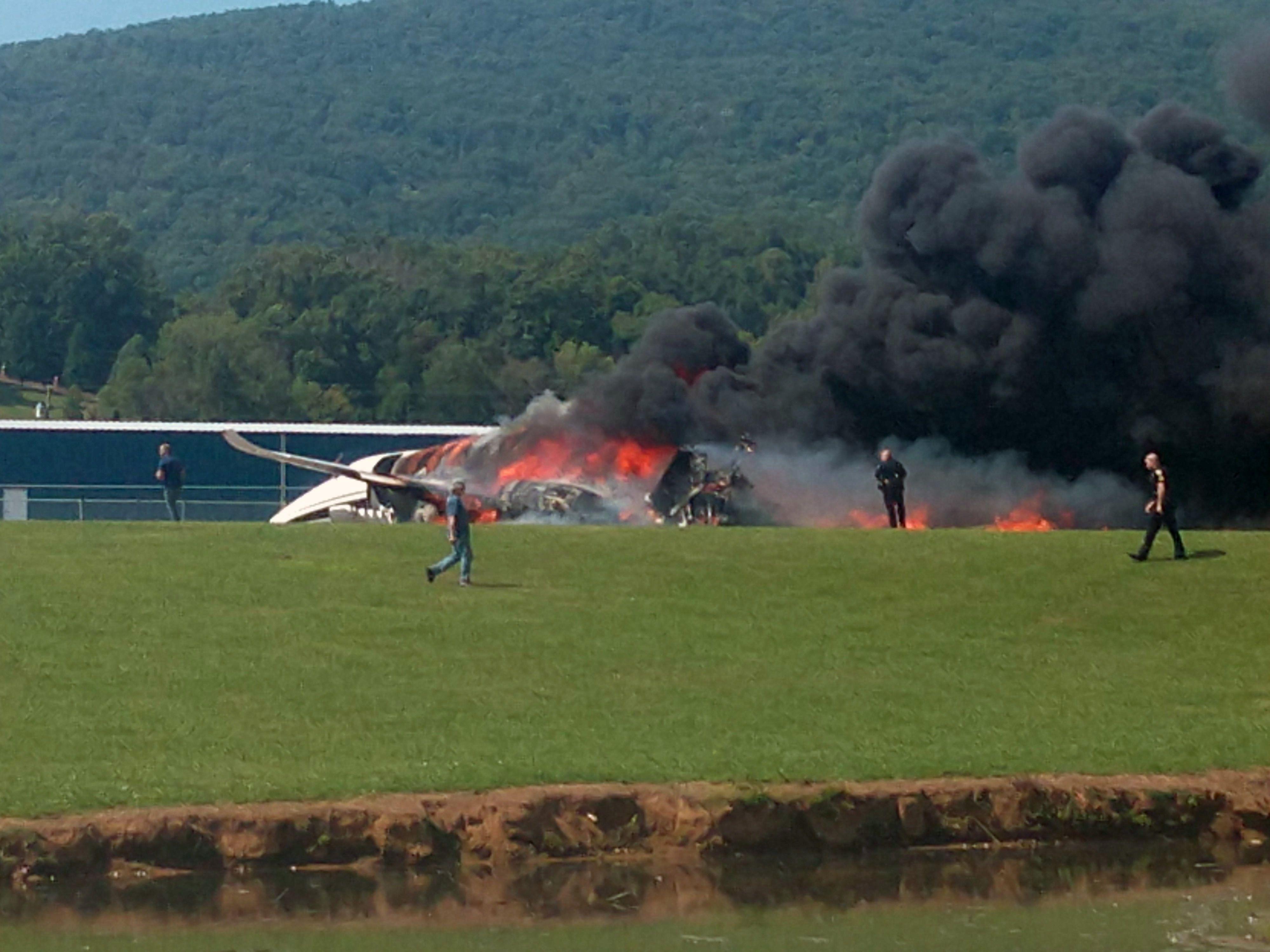 Dale Earnhardt Jr. in a Fiery Plane Crash, Reportedly Unharmed