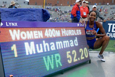 Récord mundial de Dalilah Muhammad en 400m. vallas
