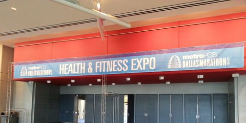 Empty Dallas Marathon Expo