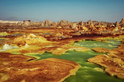 dallol, danakil depression ethiopia the hottest place on earth